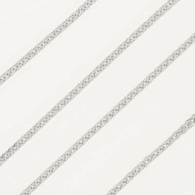 Wheat Chain Necklace White Gold