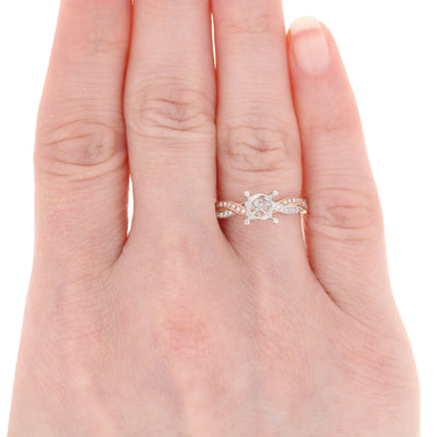 Semi-Mount Two Tone Twist Engagement Ring