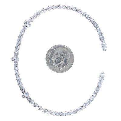 Roberto Coin Diamond Bracelet White Gold