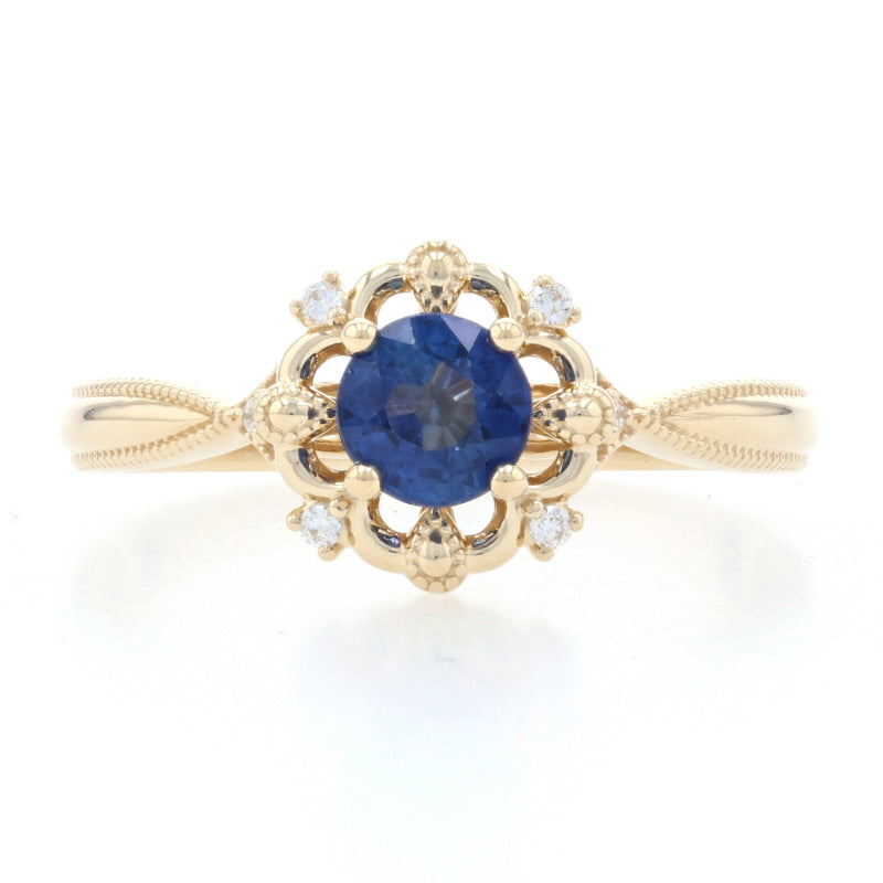 .75ct Sapphire & Diamond Ring Yellow Gold