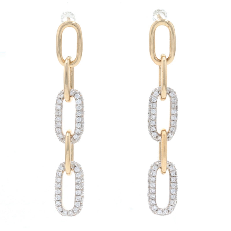 .56ctw Diamond Earrings Yellow Gold
