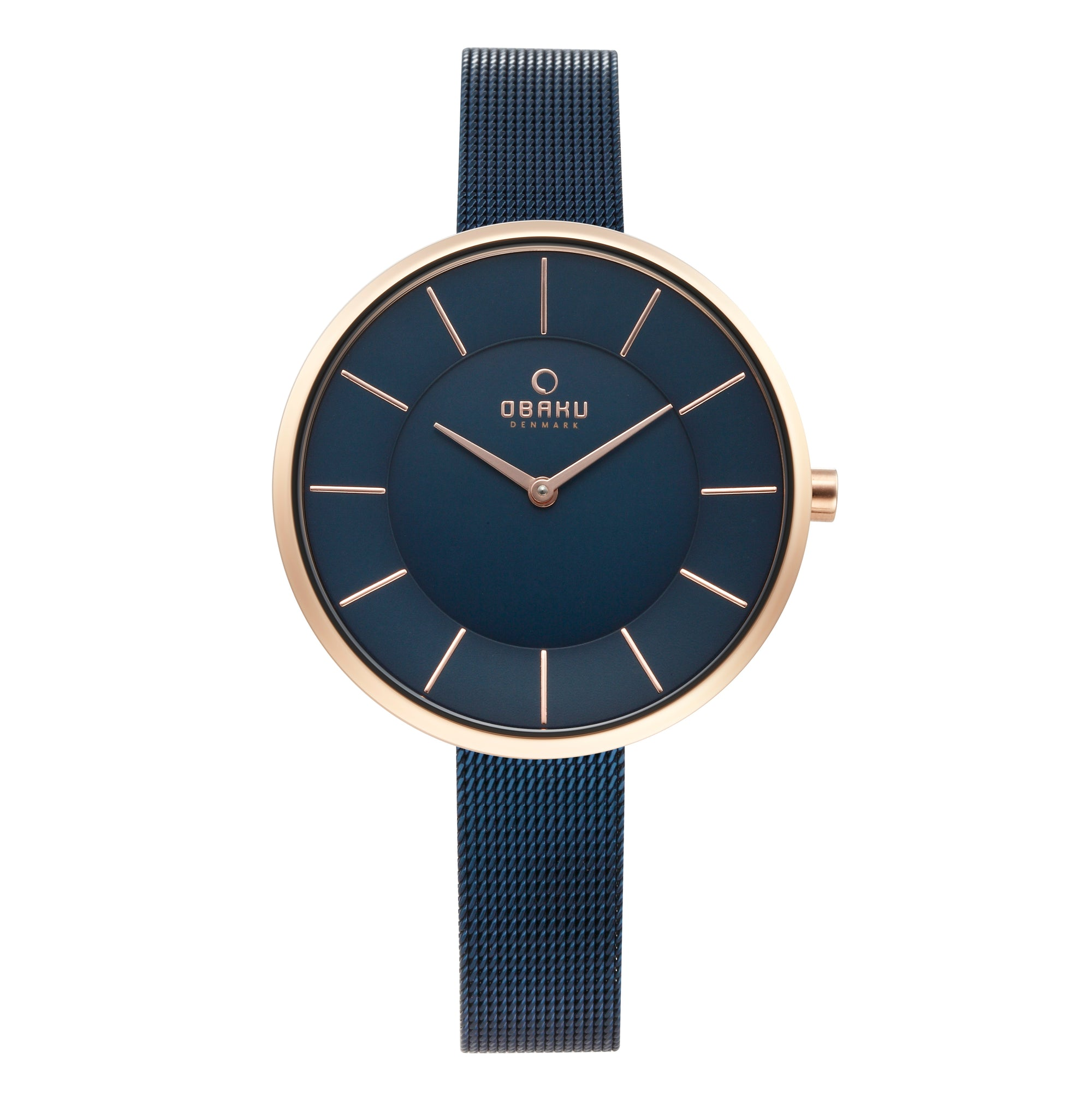 Obaku Sand Ocean Ladies Rose Gold Watch V185LXVLML
