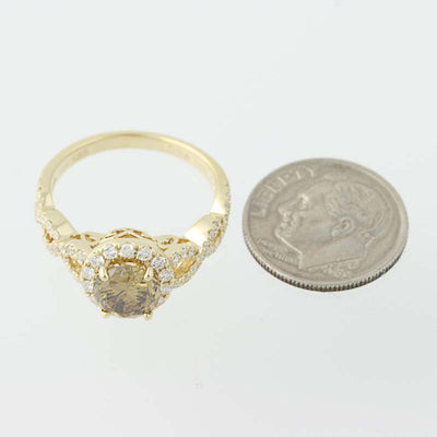 Diamond Halo Ring 1.95ctw