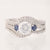 Scott Kay Semi-Mount Wedding Set with Sapphires .89ctw