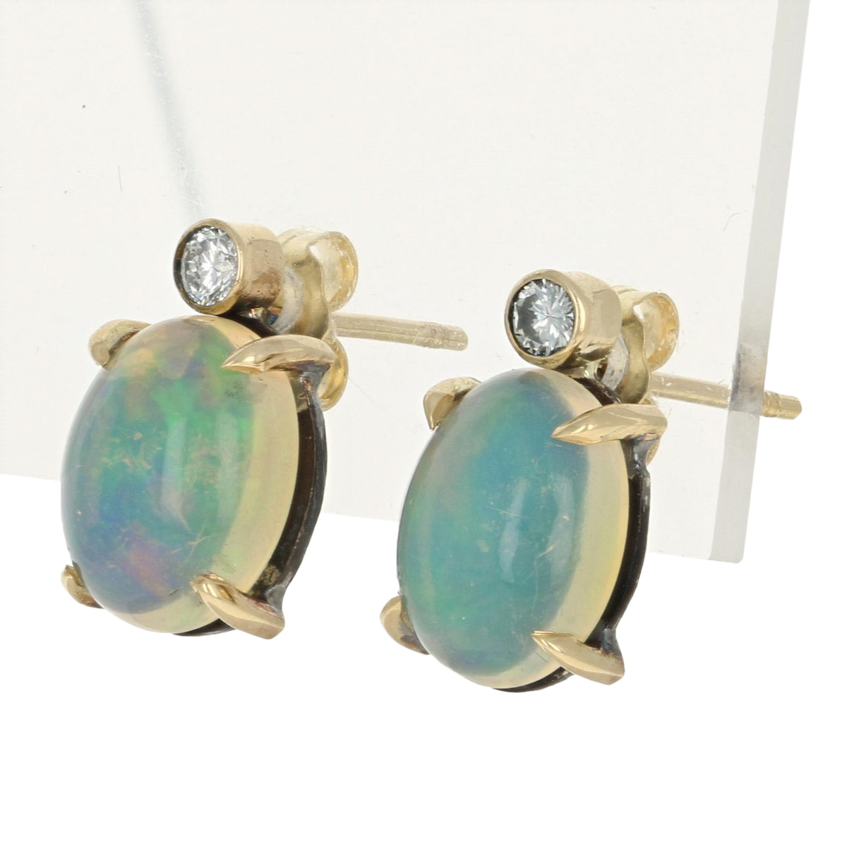Welo Opal & Diamond Earrings