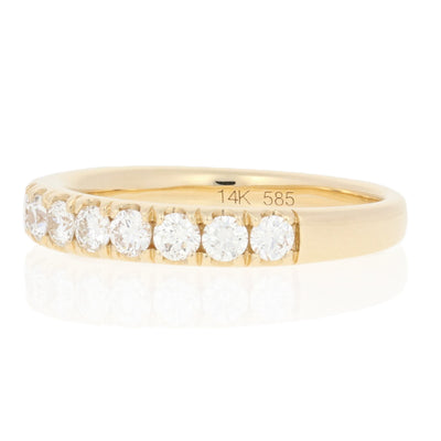 .86ctw Diamond French Set Ring Yellow Gold