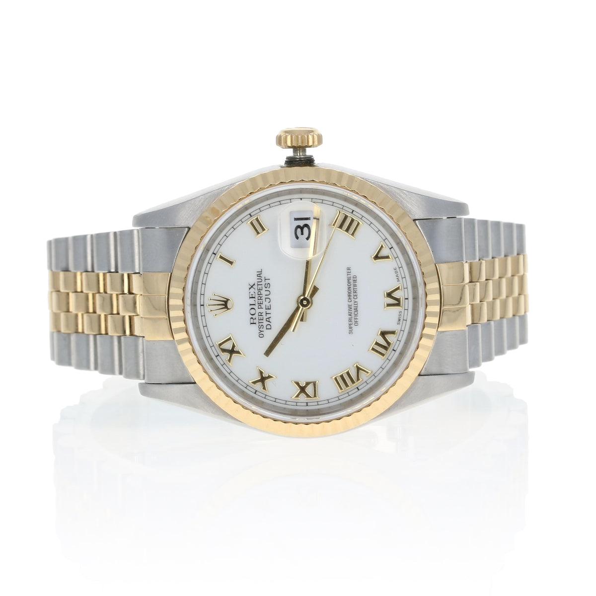 Rolex Oyster Datejust Men's Watch Stainless Steel & Yellow Gold 16233