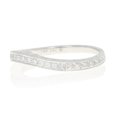 .12ctw Diamond Curved Ring White Gold