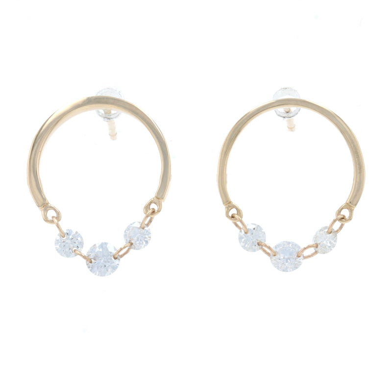 .36ctw Diamond Earrings Yellow Gold
