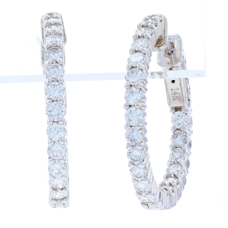 1.94ctw Diamond Earrings White Gold
