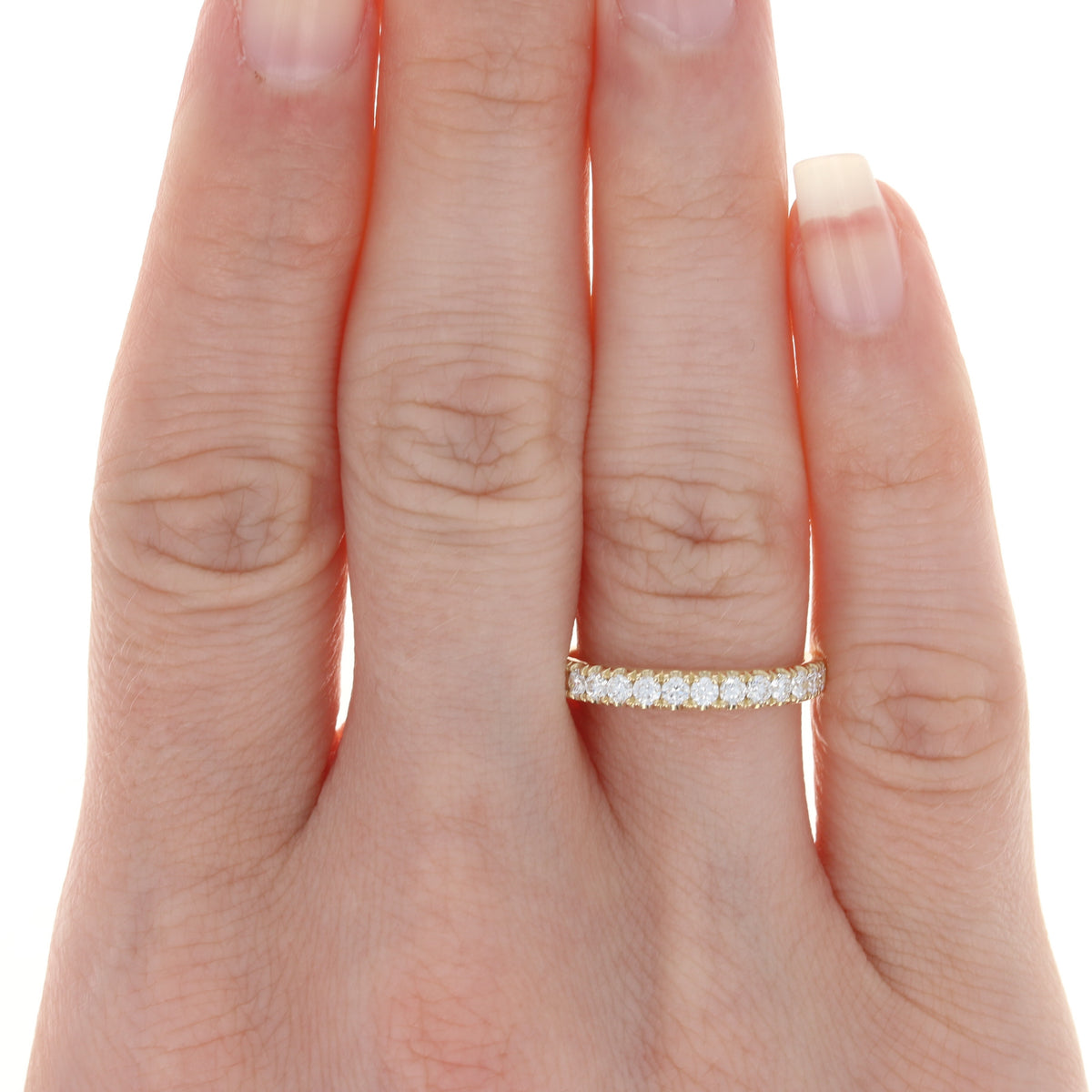 .49ctw Diamond French Set Ring Yellow Gold