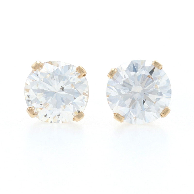 .74ctw Diamond Earrings Yellow Gold