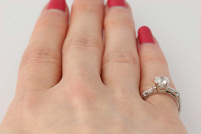 Art Deco Diamond Engagement Ring 1.15ctw