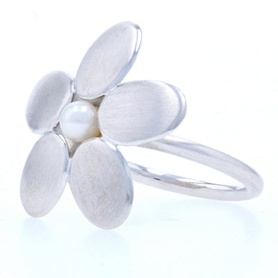 Bastian Inverun Freshwater Pearl Ring Sterling Silver