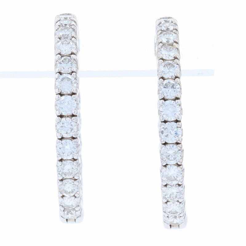 2.87ctw Diamond Earrings White Gold