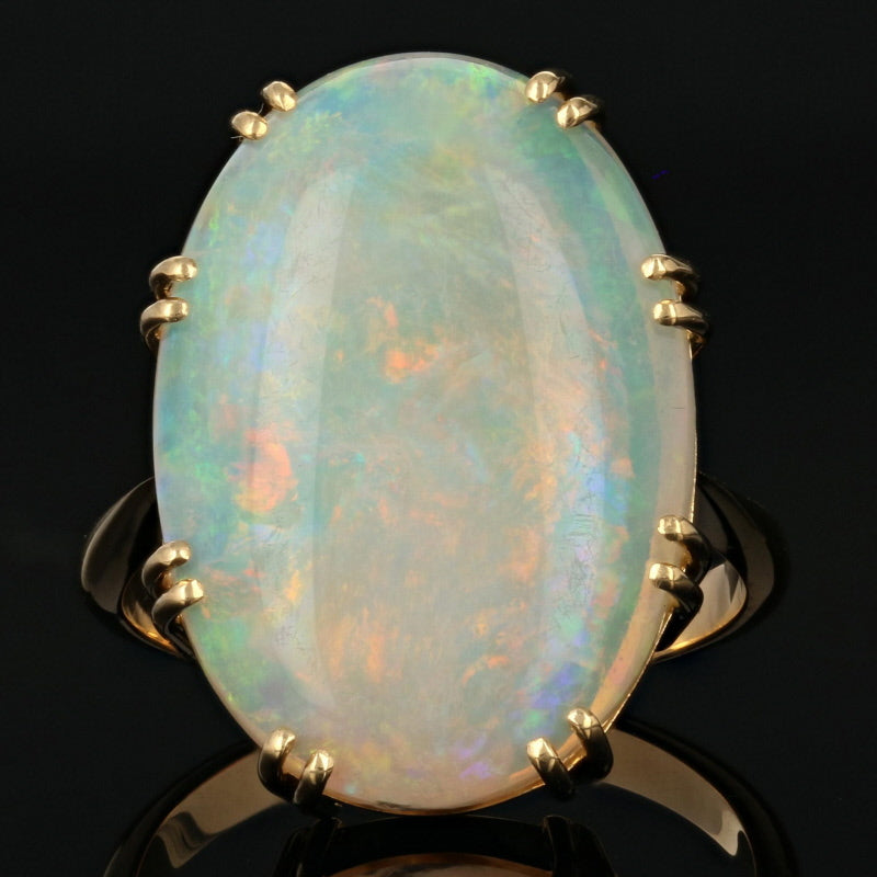 8.60ct Opal Ring Yellow Gold