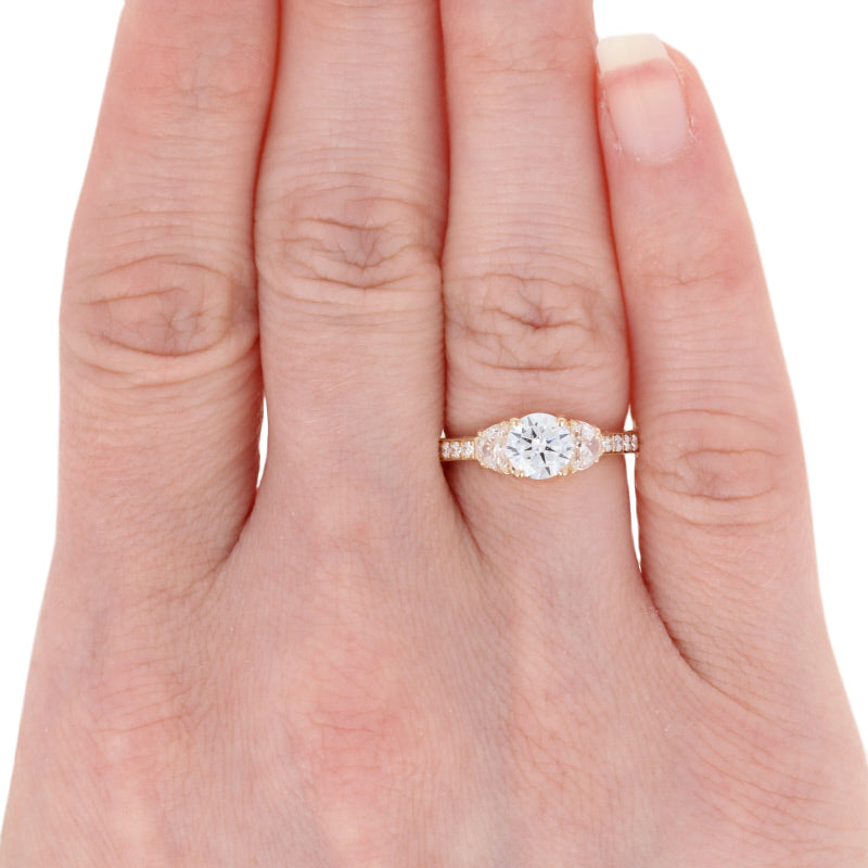 Semi-Mount Engagement Ring Yellow Gold