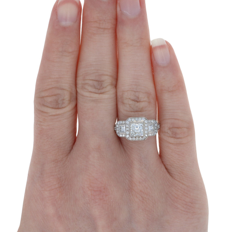 1.95ctw Diamond Engagement Ring White Gold