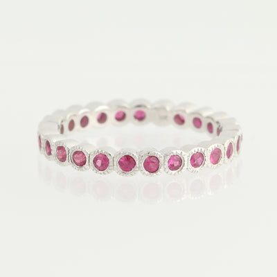 Ruby Eternity Ring  .72ctw