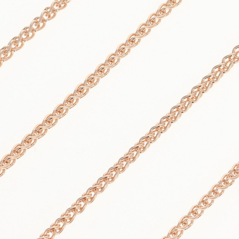 Wheat Chain Necklace Rose Gold