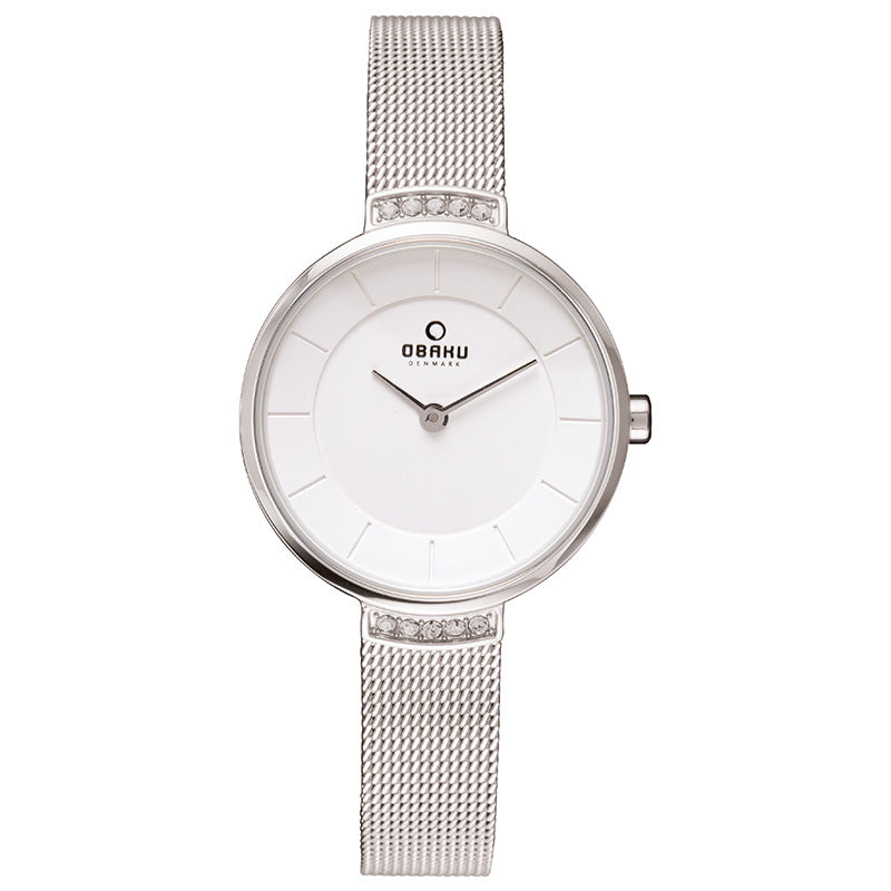 Obaku Varm Steel Ladies Watch V177LECIMC
