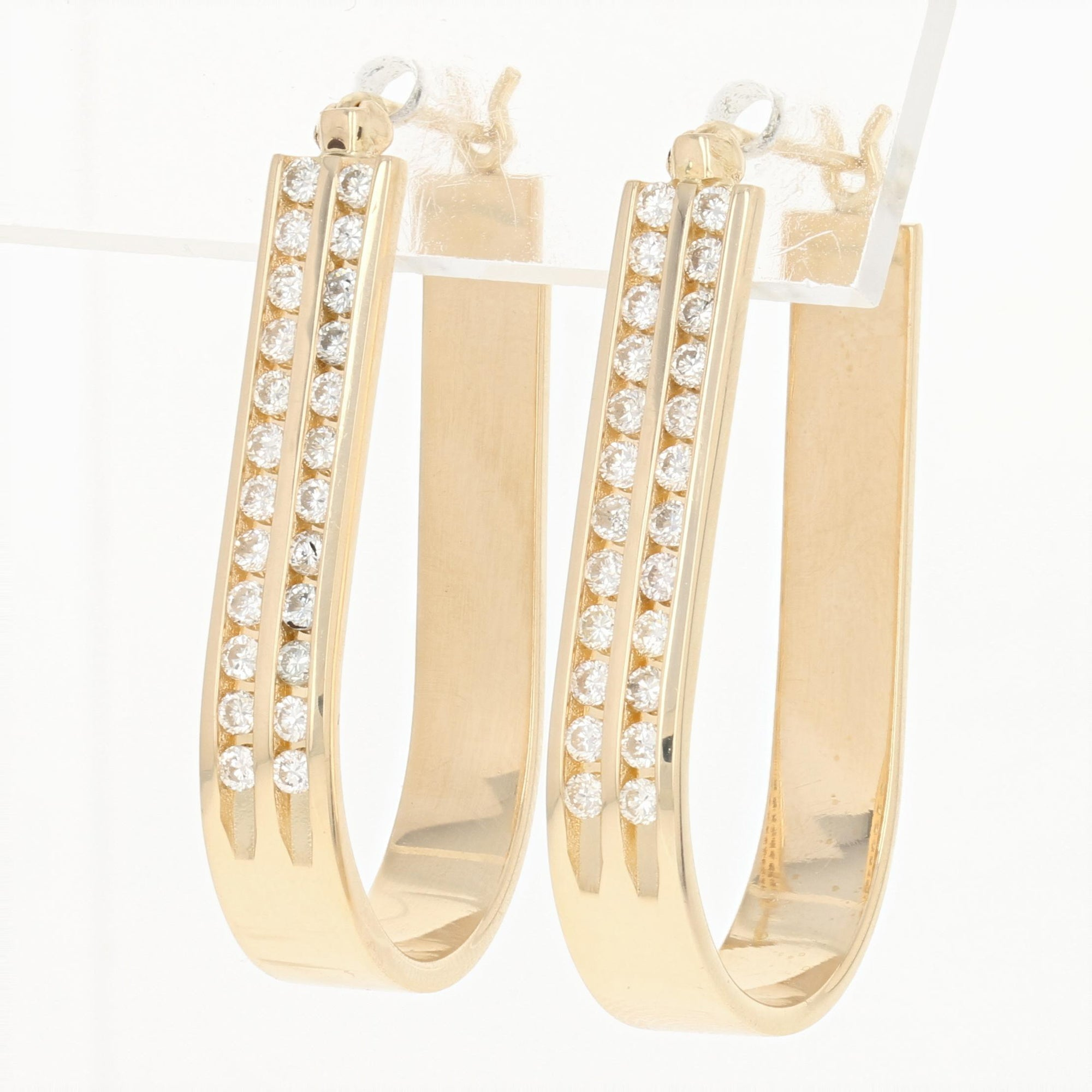 .72ctw Diamond Hoop Earrings Yellow Gold