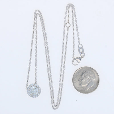 1.27ctw Diamond Necklace White Gold