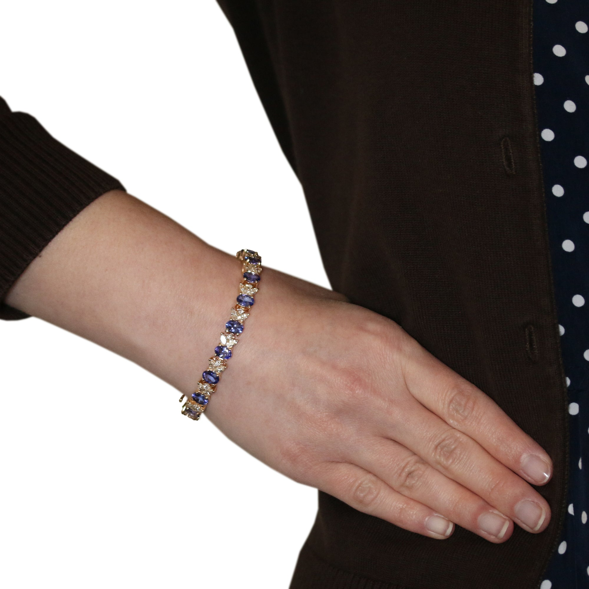 20.40ctw Tanzanite & Diamond Bracelet