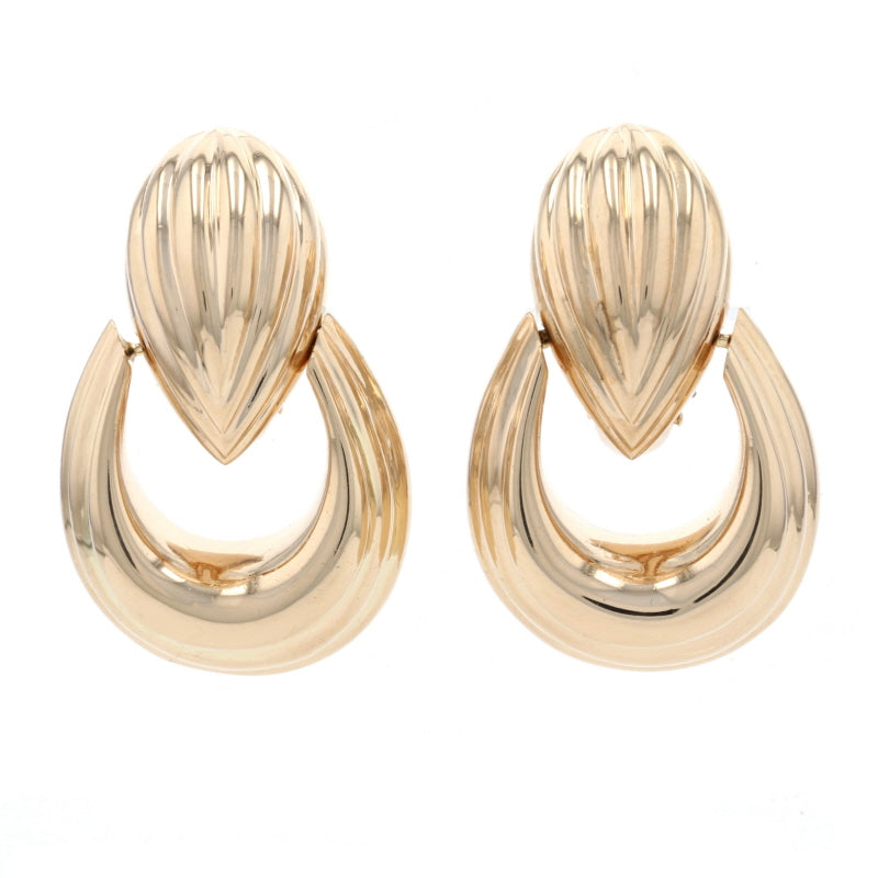 Convertible Door Knocker Earrings Yellow Gold