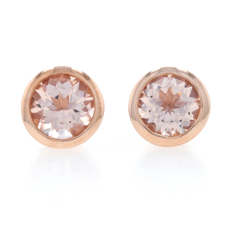 1.20ctw Morganite Earrings Rose Gold