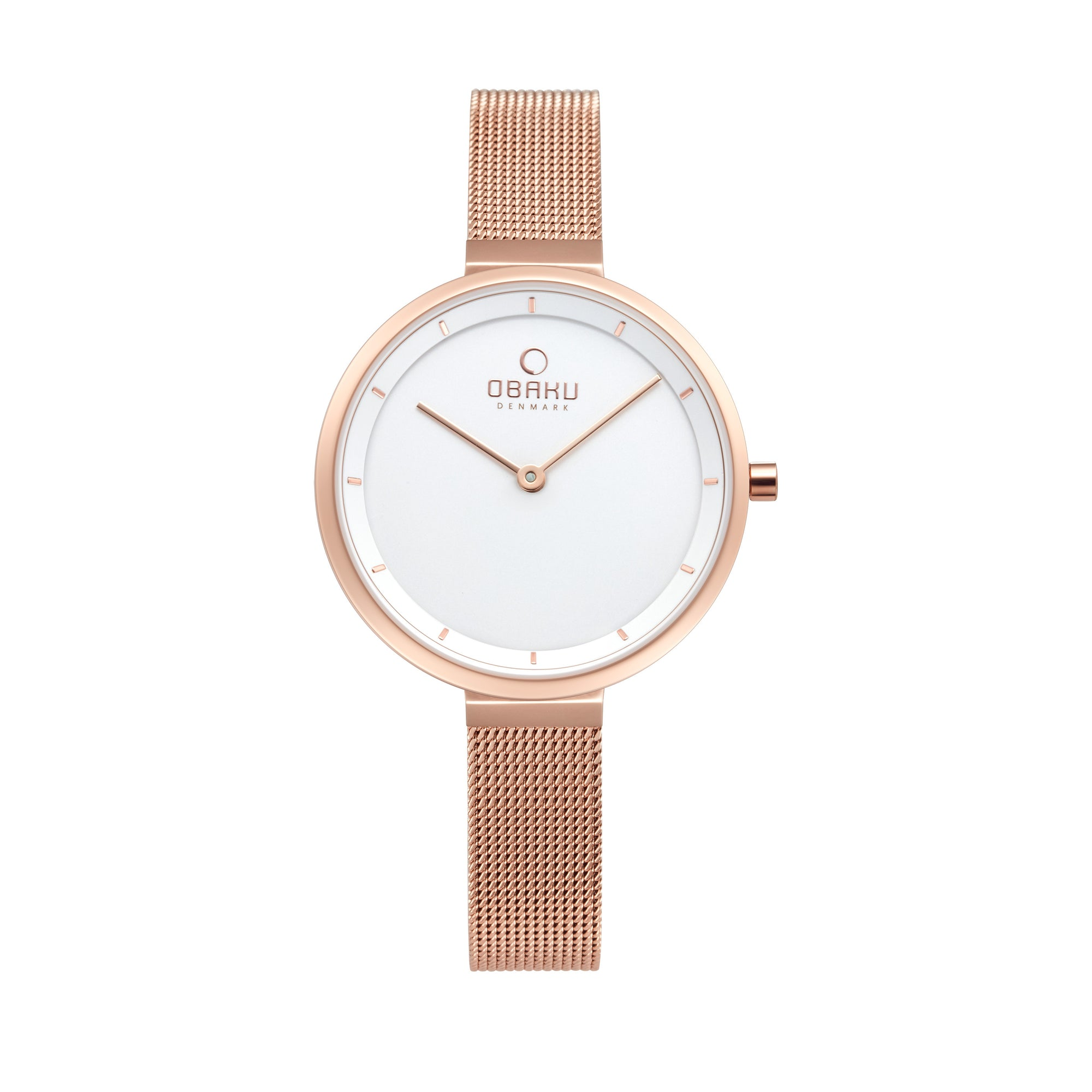 Obaku Blomme Ladies Watch Stainless White Dial  V225LXVIMV
