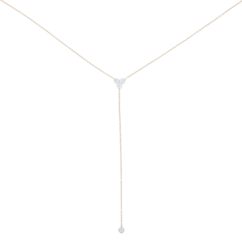.46ctw Diamond Lariat Necklace Yellow Gold