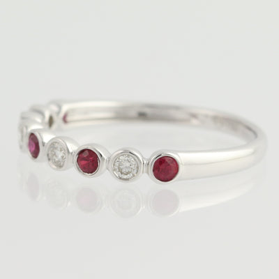 Ruby & Diamond Band Ring .32ctw
