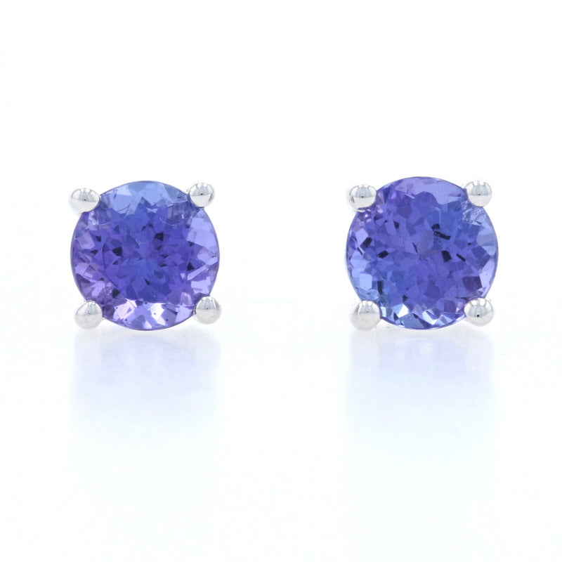 1.50ctw Tanzanite Earrings White Gold