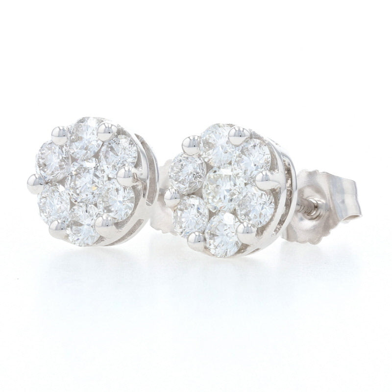 1.05ctw Diamond Earrings White Gold