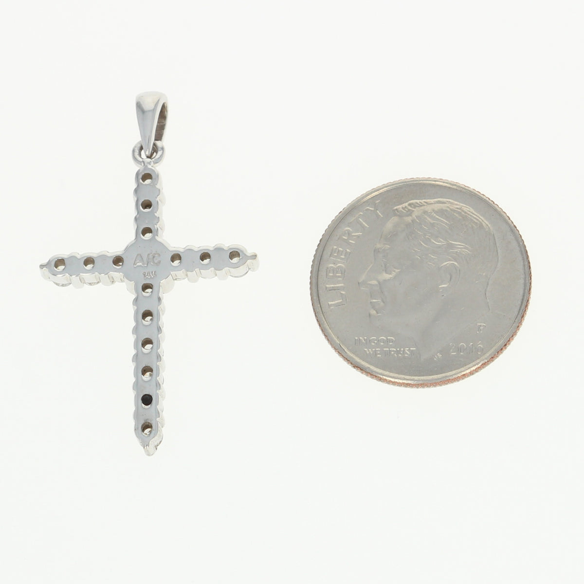 Diamond Cross Pendant  .58ctw