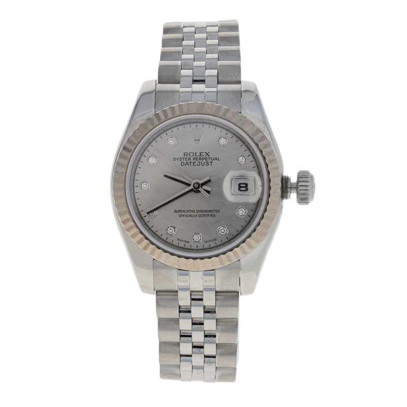Rolex Lady-Datejust Diamond Watch Stainless & Gold Automatic  179174