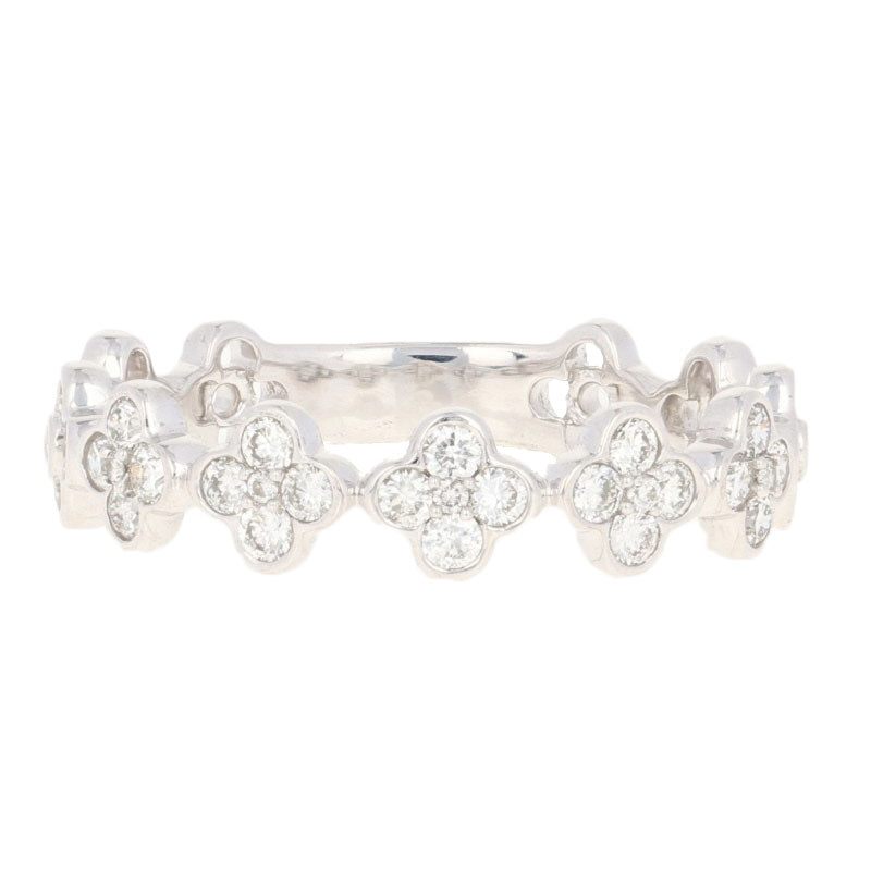 Floral Diamond Band Ring .34ctw