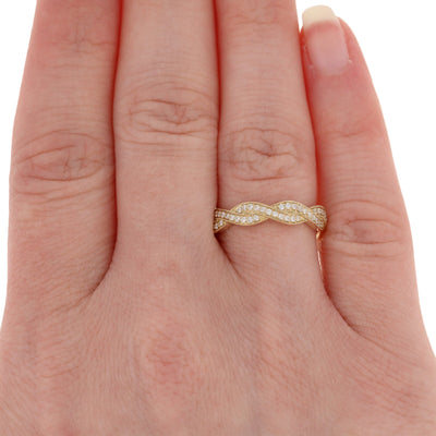 Diamond Twist Wedding Band