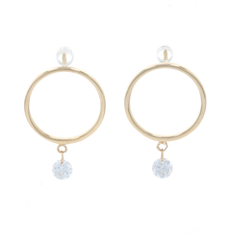.20ctw Diamond Earrings Yellow Gold