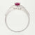 Pink Tourmaline & Diamond Halo Ring 1.15ctw