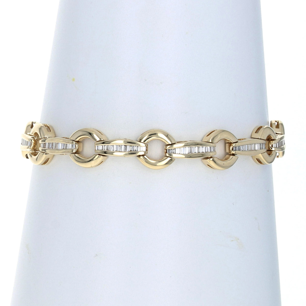 1.20ctw Diamond Bracelet Yellow Gold