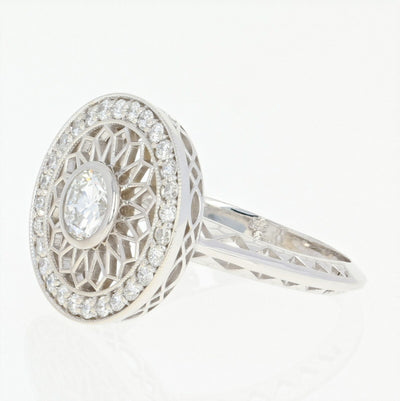 Diamond Halo Ring  .84ctw