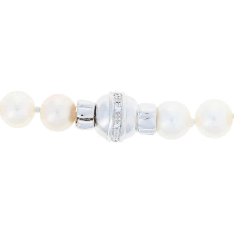 Cultured Freshwater Pearl & Diamond Necklace