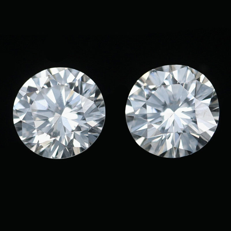1.08ctw Set of 2 Loose Diamonds Round Brilliant GIA