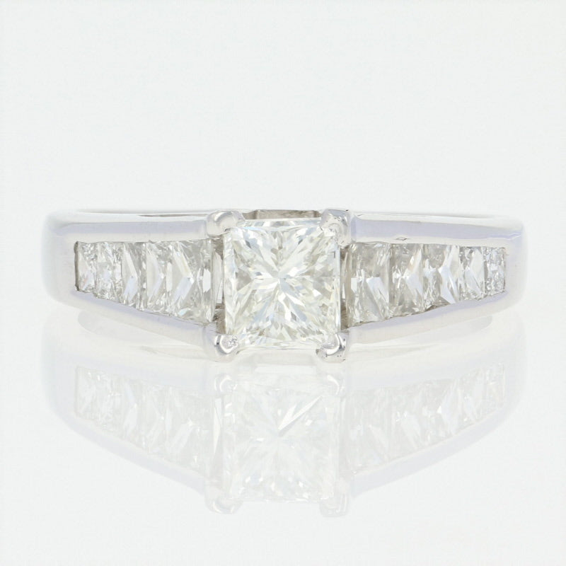 Diamond Engagement Ring - Platinum GIA Princess Cut 2.08ctw