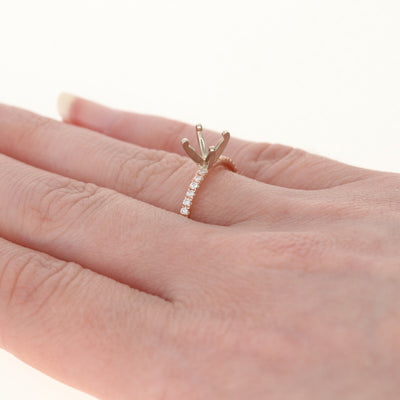 Semi-Mount Solitaire Engagement Ring