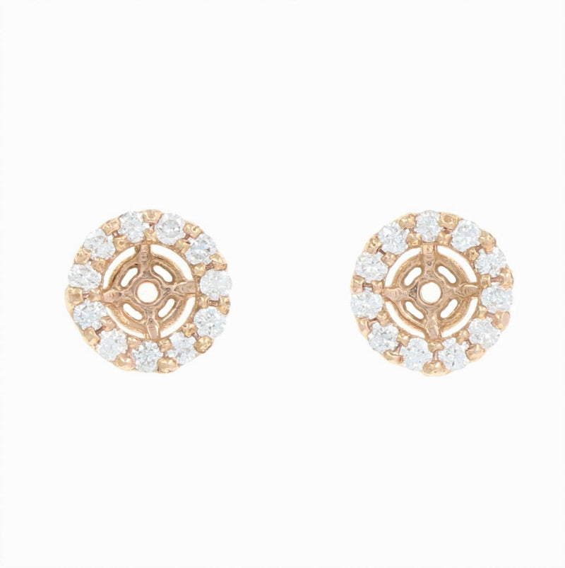 Diamond Halo Earring Enhancers  .41ctw