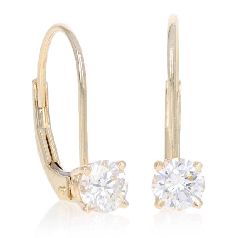.68ctw Diamond Earrings Yellow Gold
