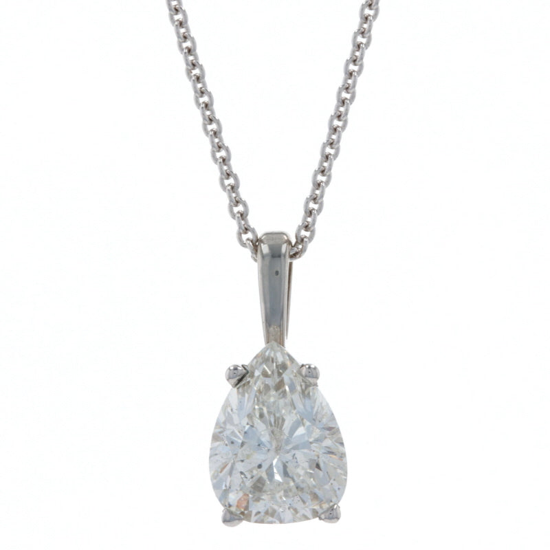 1.06ct Diamond Necklace White Gold